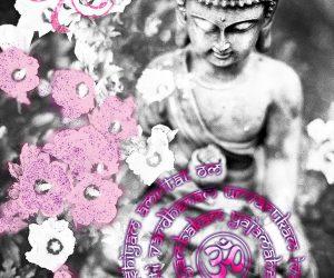 Yoga Mantra Tryambakam Buddha Wanddekoration Yogastudio