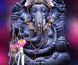 Ganesha Wandbild Wanddeko Fotoleinwand