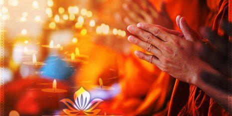 Namaste Mantra Wanddeko Fotoprodukt