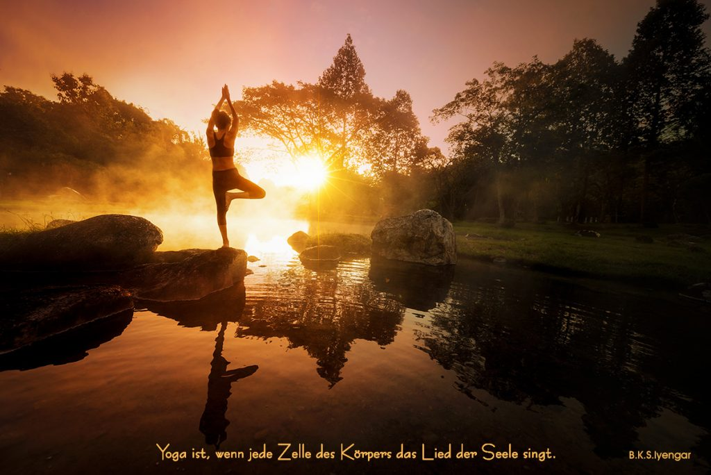 B.K.S.Iyengar Yogaspruch Glücklich Wohnen
