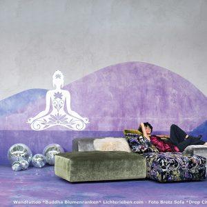 Wandtattoo Buddha Motiv