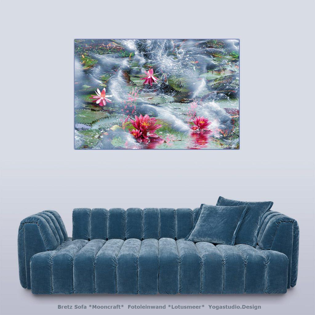 Wanddeko Lotusmeer bei Yogastudio.Design