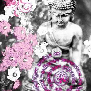 Wanddeko Fotoleinwand Buddha & Mantra Tryambakam