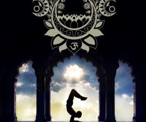 Wanddekobild Moonlight Yoga