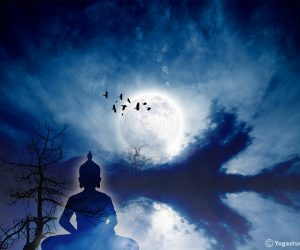 Wandbild Moonlight Thai Buddha Design