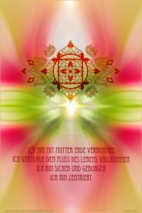 Chakra Poster Muladhara Affirmationen Mother Earth