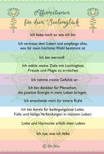 Positives Mindset mit Affirmationen