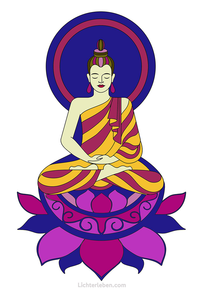 Buddha Lotus Ausmalbild