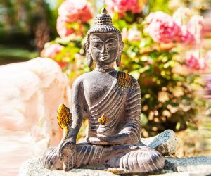 Medizin Buddha Statue Stone Finish