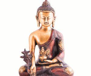 Medizin Buddha Statue Messing
