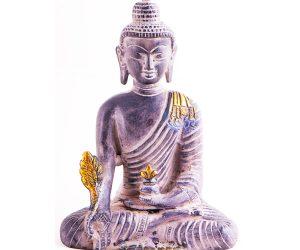 Medizin Buddha Statue Messing 20cm Stone Finish