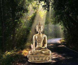 Medizin Buddha Statue Messing 20cm