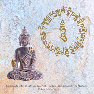 Medizin Buddha Messing Wandtattoo Medizin Buddha Mantra