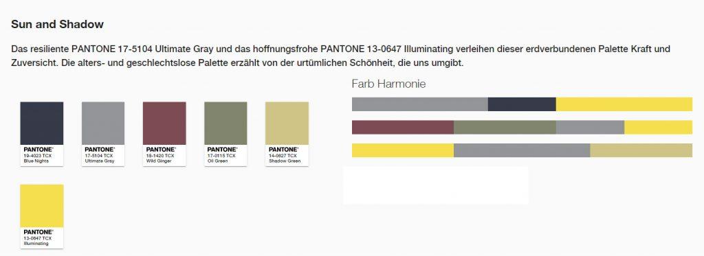 Das resiliente PANTONE 17-5104 Ultimate Gray und das hoffnungsfrohe PANTONE