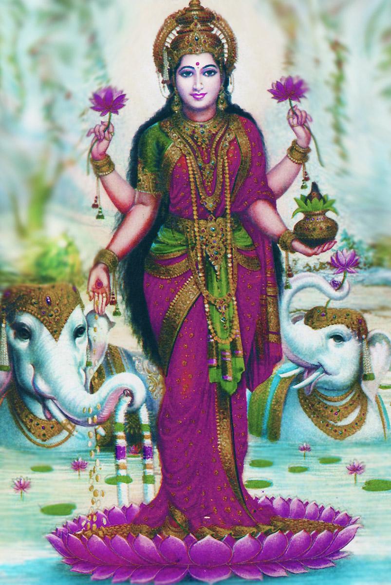 Lakshmi Göttin der Fülle, Schönheit und der Weiblichkeit