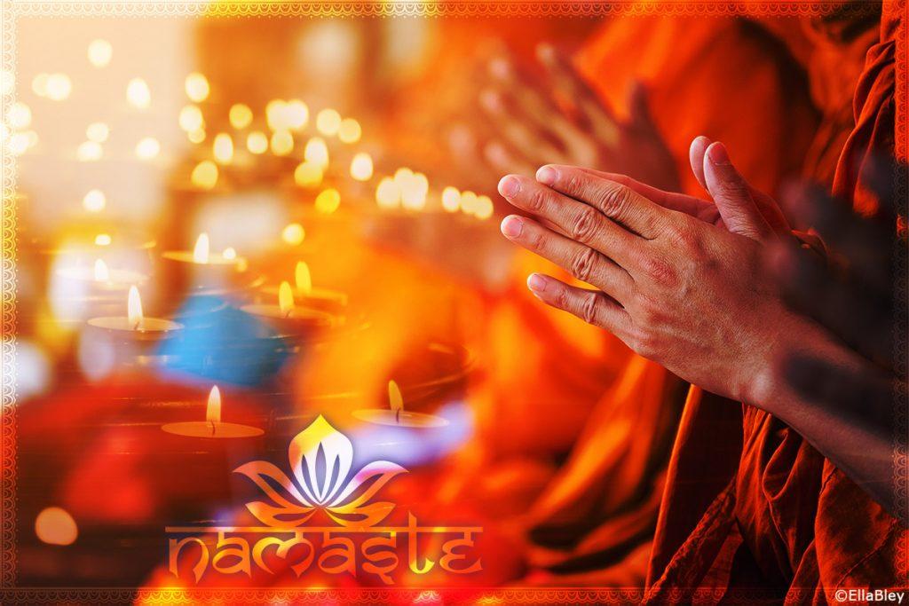Wanddekobild Namaste Fotoprodukt