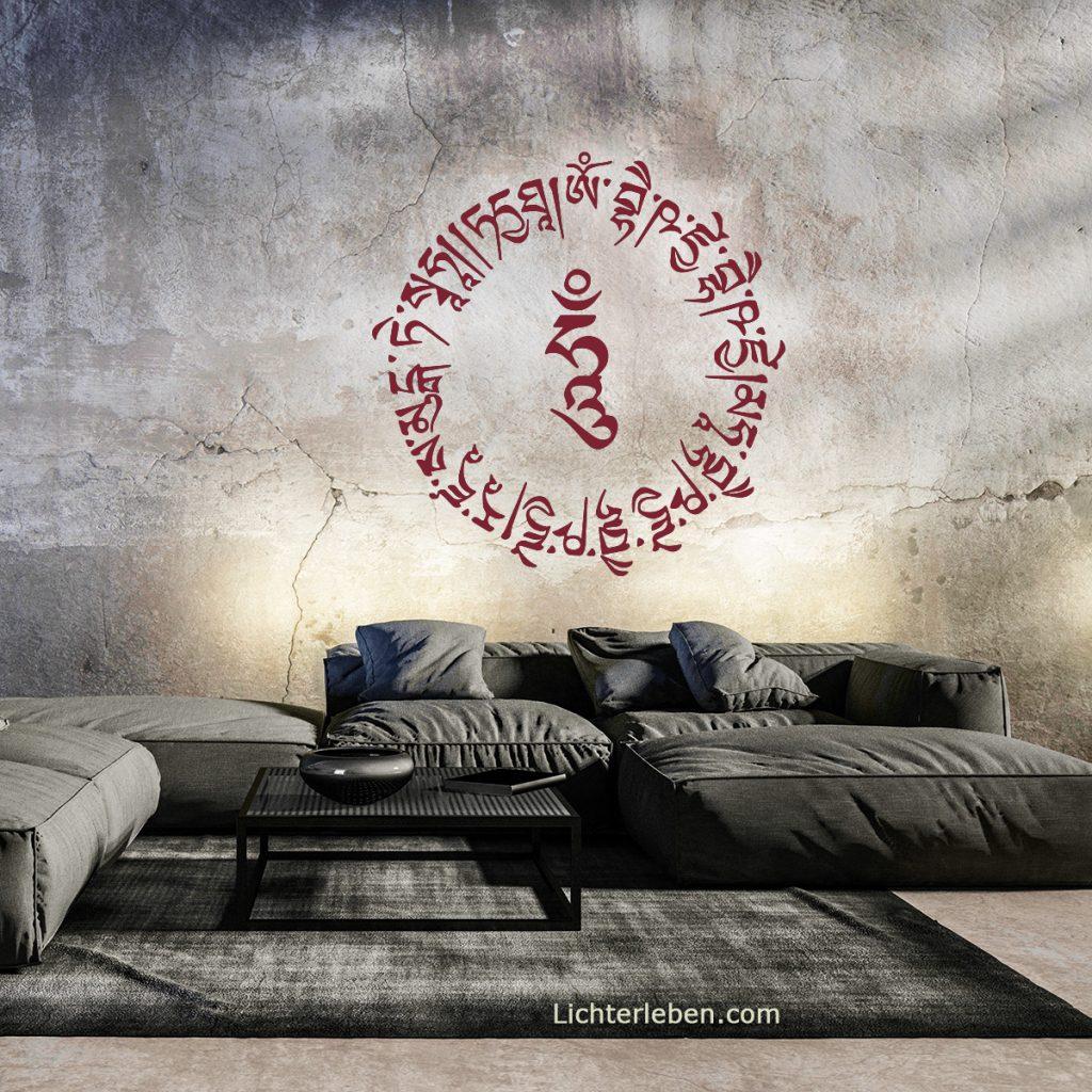 Mantra Wandtattoo Medizin Buddha Mantra