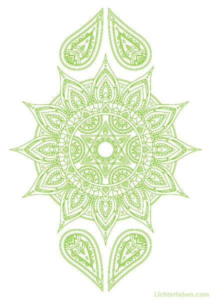 Chakra Mandalabild Ausmalbild