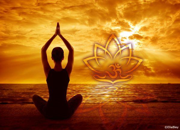 Yoga Wanddeko Lotus OM